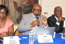 Hommage à Georges Gandhi Faraguet Tounkara Candidat à la Présidence de la Guinée reçu par DLG  le 12 septembre 2015 à Paris