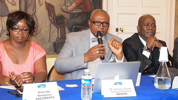 Georges Gandhi Faraguet Tounkara Candidat à la Présidence de la Guinée reçu par DLG à Paris