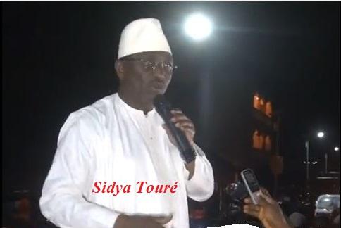 COMMUNIQUE:RETOUR DANS LA CAPITALE DU CANDIDAT A LA PRESIDENTIELLE M. SIDYA TOURE