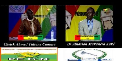 Présidentielle/ Le face à face de Dr Makanera Alhassan(UFR) et de Check  Ahmed Tidiane Camara(PEDN)