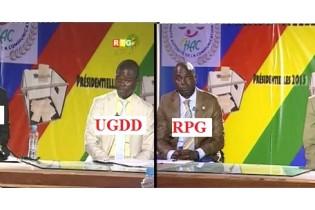 Présidentielle 2015: Programmes croisés de l'UFR, RPG, UGDD, et du PEG du 30 septembre 2015