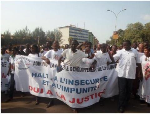Guinée: manifestation contre l'insécurité à Kankan, 7 blessés