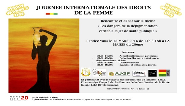 La Coordination des Associations Guinéennes de France (CAGF) organise la journée internationale de la femme