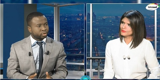 Almamy Kaloko l'invité du journal  sur Télé sud relatif au colloque de GRAD-GUINEE à l'assemblée nationale