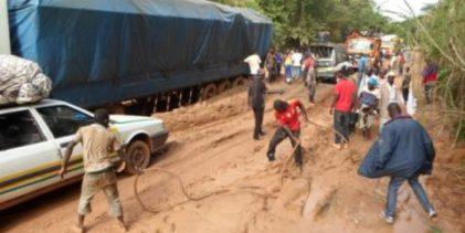 La Guinée préoccupée par le sort de ses routes.(Xinhua)
