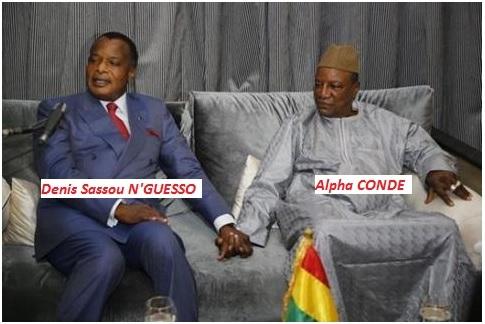 Dinis Sassou N'GUESSO ET Alpha CONDE