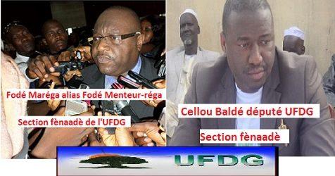 Les accusations d'ethno portées contre Sidya par les députés de l'UFDG Fodé menteur-réga et Cellou Baldé de la section fènaadè, démenties par Celou Dalein Diallo