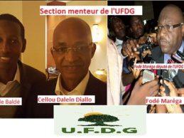 L'UFDG une nouvelle fois prise main dans le sac de mensonge : à la suite des sections motards, cailloux, dioubè labaabè (jolies filles) et section tèpèrè (piétons), nous assistons au travail de la section menteurs (section fènaadè) !