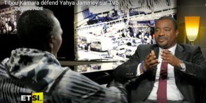 (VIDEO TV5 ) Tibou Kamara conteste le caractère dictatorial de Yaya Jammeh et le qualifie de démocrate à imité ! Que reste-il de digne en Tibou Kamara ?