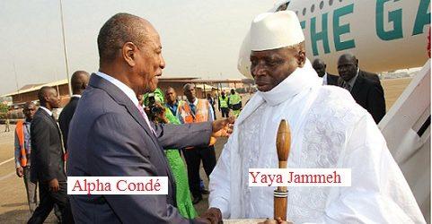 GAMBIE / Une dernière tentative de médiation avec Yahya Jammeh va être menée ce vendredi par Alpha Condé avant midi !