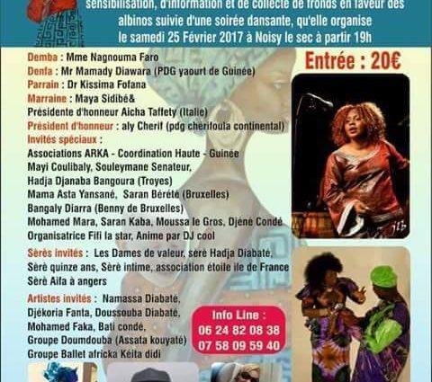 L' association d'incertion médico-socio-éducative pour les albinos en Guinée (AIMSEA) organise une grande cérémonie à Paris