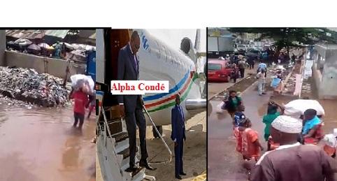 (VIDEO) Inondation et saleté  dans la ville et marchés de Conakry / Les conséquences calamiteuses de la gouvernance impitoyable d'Alpha Condé ! Qu'est ce que les Guinéens ont fait à Alpha Condé  pour mériter cette punition collective et méprisante ?