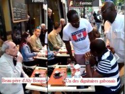 (VIDEO) Paris /Contrairement aux Guinéens qui flattent leur dictateurs et pillards,  le beau-père d'Aly Bongo et un dignitaire du régime ont été humiliés par les Gabonais de France.
