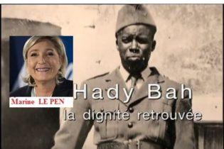 (VIDEO) A Marine LE PEN l'histoire du Guinéen Mohammadou Haby Bah (1916-1943), chef du 1er maquis de résistance des Vosges( France).