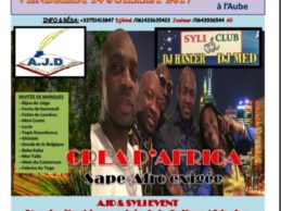 Compte rendu de la Grande soirée «CREA D'AFRICA» du 14 juillet 2017  initiée par M.DJIKINE Mohamed président de l'AJD