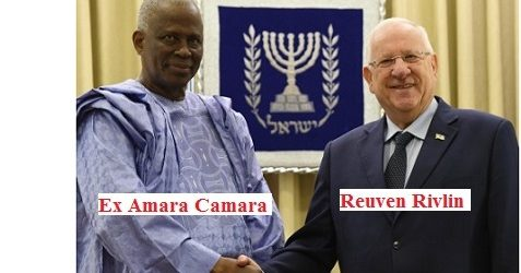 Diplomatie : L'Ambassadeur Amara Camara reçu en grande pompe par le président Israëlien
