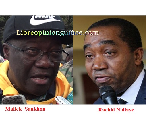 Révélation : voici comment Malick Sankhon et Rachid N'Diaye combinent pour détourner des fonds publics (documents exclusifs) Source: Libreopinionguinee.com