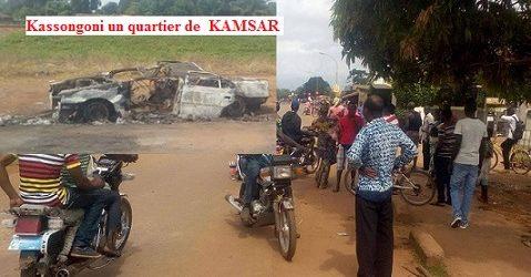BOKE/ La ville de KAMSAR secouée par un mouvement populaire ce dimanche 17 septembre 2017, deux voitures incendiées et quelques blessés légers ( Par Alphonse Bangoura correspondant du quepard.net)
