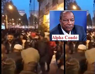 (VIDEO) Manifestation des Guinéens contre Alpha Condé devant l'hôtel Raphaël a Paris où il sejourne