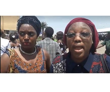 (VIDEO) Manifestation des femmes ce 8 mars 2018 devant le palais du peuple pendant qu'Alpha Condé tient son discours