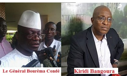 Gouvernement  Kassory: Kiridi Bangoura, le spécialiste en fraude électorale et fossoyeur de la démocratie guinéenne au ministère de l'Administration du Territoire et de la Décentralisation  et le Général Bouréma CONDE alias « le cruel » au ministère de la défense.
