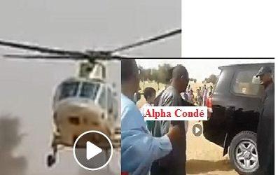 (VIDEO)  Alpha Condé a discrètement  rendu visite à un marabout  mauritanien du nom de Ould Cheick Saadbouh à NIMJAT.