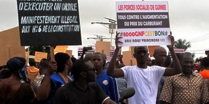 GUINEE / La répression d'une manifestation à Conakry provoque la colère des syndicats.