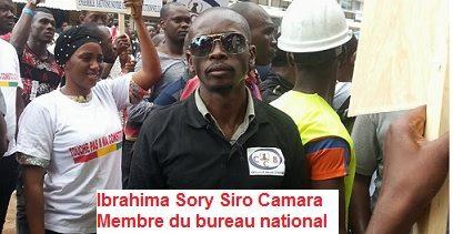 Manifestation devant la Cour Constitutionnelle / Le témoignage d'Ibrahima Sory Siro Camara membre du bureau national des jeunes de l'UFR.