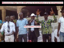 (VIDEO) Installation à KOUNTYA par Alpha Amadou FOAFANA, de l'antenne du Mouvement Sidya Touré président en 2020 pour la réconciliation et le développement de la Guinée