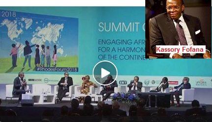 (VIDEO) Ecoutez l'anglais du premier ministre  Kassory FOFANA qui disait pourtant avoir obtenu deux doctorats en 5 ans aux Etats-Unis. Il semble être plus facile de détruire la ville de Boké par la poussière des mines sauvages que de parler anglais !