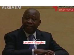 (VIDEO) Selon Laurent Gbagbo devant la CPI : celui qui ne respecte pas la constitution n'est pas un démocrate. Le salut pour nos pays réside dans le respect de nos textes.