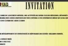 Communiqué du Club GUINEE SOLIDAIRE (CGS)