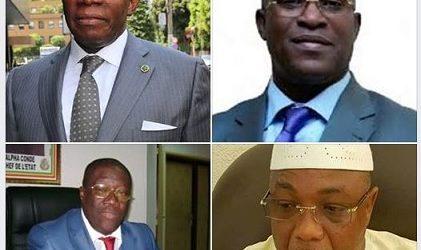 GUINEE / LE QUATUOR MALÉFIQUE DE LA BASSE-CÔTE: Kassory Fofana, Baidy Aribot, Malick Sankhon et Kiridy Bangoura.