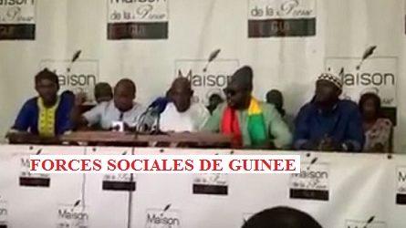 (VIDEO) GUINEE /  Conférence de presse des forces sociales de Guinée contre la modification de la constitution au profit d'Alpha Condé.