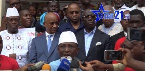(VIDOE) Les déclarations du 3 avril 2019 du front commun des Forces vives contre le projet de fraude constitutionnelle d'Alpha Condé.