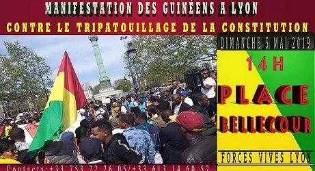 FRANCE /  Manifestation des Guinéens de Lyon contre le tripatouillage de la constitution.