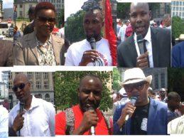 FNDC BELGIQUE / Interviews des manifestants guinéens à Bruxelles le 22 juin 2019