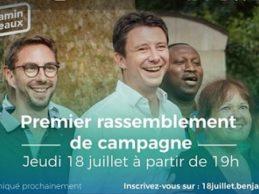 Lancement de campagne de  Benjamin Griveaux candidat à la mairie de Paris le jeudi 18 juillet 2019 / Chers amis, à l'invitation de Mohamad Lamine Gassama adjoint au maire du 20ème qui a tant donné à la communauté africaine, mais surtout à celle de la Guinée, nous sommes tous attendus sur les lieux.
