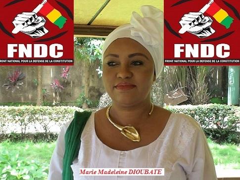 Discours de Marie Madelaine Diabaté coordinatrice des Forces vives-FNDC France  à l'occasion de la manifesttion du 28 septembre 2019 à Paris