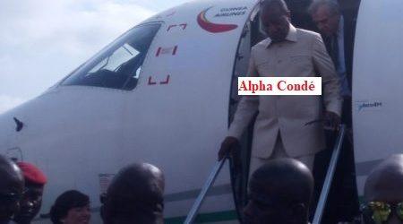Flash-info / Redoutant les manifestations projetées par le FNDC, le président Alpha Condé envisagerait de voyager avant le 14 octobre 2019.