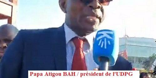 Manifestation des Guinéens de Genève / Le troisième mandat présidentiel en Afrique est un crime contre l'humanité, dixit Papa Attigou BAH Président de l'UDPG.