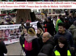 Manifestation chez Malick SANKHON au MANS / Le Collectif contre l'impunité en Guinée et les Forces vives-FNDC France alertent l'administration, la population et les médias du département de la SARTHE sur la nature criminelle et mortifère du directeur de la Caisse nationale de sécurité sociale de la République de Guinée.