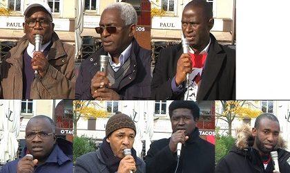 Manifestation chez Malick SANKHON au MANS / Interviews des membres du Collectifs contre l'impunité en Guinée et les Forces vives-FNDC France. Des réactions fortes et déterminées.