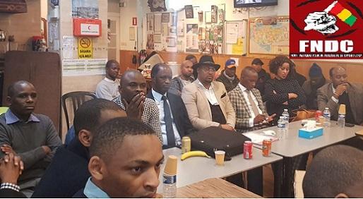 FNDC-EUROPE / Réunion des antennes du FNDC-EUROPE du dimanche 23 février 2020 à Bruxelles. Il était question d'adopter une stratégie permettant de faire échec au coup d'Etat constitutionnel orchestré par le président Alpha Condé et ses soutiens.