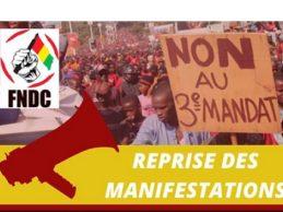 URGENT / REPRISE DE MANIFESTATION EN GUINEE PAR LE FNDC