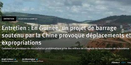 Entretien : En Guinée, un projet de barrage soutenu par la Chine provoque déplacements et expropriations
