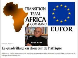 Africom et Eufor, Sous couvert de grands principes et de sigles abscons, le quadrillage en douceur de l'Afrique (Par René NABA).