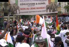 (VIDEO) Paris le 19 septembre 2020 / La grande manifestation Ivoiro-guinéenne contre les troisièmes mandats des présidents Alassane Ouattara et Alpha Condé.