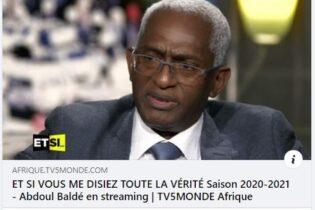 (VIDEO) Remarquable intervention de Dr Abdoul Baldé sur TV5 MONDE du samedi 31 octobre 2020